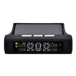 2019 sensores de monitoramento de pneus Tpms Solar Sistema de Monitoramento de Pressão Dos Pneus Lcd Sistema de Alarme Automático Sensor Externo desconto sensores de monitoramento de pneus