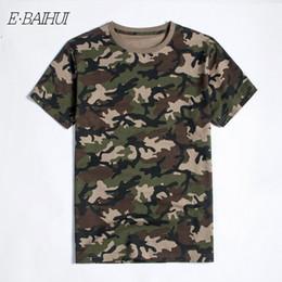 2019 армейская рубашка E-BAIHUI новый летний военный камуфляж мужчины хлопок одежда Camo Camisetas футболка повседневная тактический армия Combat Brand мужчины топы тройники T040 дешево армейская рубашка