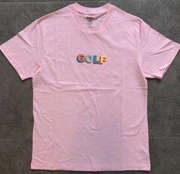 logotipo de la moda de los hombres camisetas Rebajas GOLF WANG T Shirt Hombres Mujeres Caja 3D LOGO TEE Moda 100% Algodón Harajuku Camiseta Streetwear 2019SS GOLF camiseta