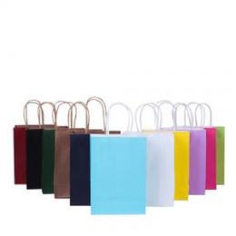 2019 tiendas de paquetes Bolsa de regalo con asas de papel Kraft respetuosa con el medio ambiente, reciclable, tienda, bolsas de embalaje, envoltura de regalo, PPA234 tiendas de paquetes baratos