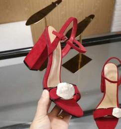 Классические босоножки Lady Summer Роскошные дизайнерские босоножки на толстом каблуке из металлической пряжки из натуральной кожи на высоком каблуке с женской обувью 10см от Поставщики настоящие кожаные женские сандалии