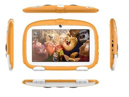 "A33 quad online-Kids Brand Tablet PC 7 ""7 pollici Quad Core bambini Cute cartoon tablet cane Android 4.4 Allwinner A33 google player 512 MB 1MB RAM 8GB ROM MQ10"