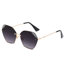 ms frames Coupons - New Women's Polygonal Box Sunglasses Ms. Brand Designer Sunglasses Europe and America Women's Fashion Polygonal Frame Mixed Color Sunglasses