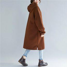 Тонкая женская траншея онлайн-Spring Autumn Hooded Long Trench Women Pure Color Loose Coat Zippers Casual Long Sleeve Thin Outerwear