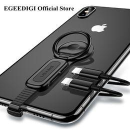 otg samsung galaxy tablet Desconto Livre DHL EGEEDIGI para Iluminação Dual Adapter Anel Titular 3.5mm Audiocharger Ajustar Suporte Do Telefone de carregamento rápido para iPhone iOS Adaptador OTG