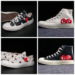 summer brand shoes Coupons - 2019 New All Stars Shoes CDG Canvas Big eyes Hearts Brand Beige Black white designer shoe sports Classic casual running Skate Sneakers 35-44