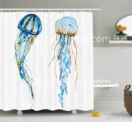 Animais exóticos on-line-Criatura Aquática Animais Cute Jellyfish Exotic Sea Ocean Aquarela Raster Graphic