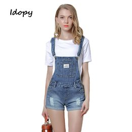 cd5260cf9c Idopy Classic Women s Denim Jumpsuit Slim Fit Female Ripped Holes Vintage  Washed Overalls Jean Pants Jumpsuits For Girl  546281 discount jumpsuit  styles for ...