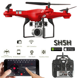 2019 hd Sh5h Quadcopter Con telecamera 1080p Wifi in tempo reale Video Altitude Hold Headless One Return chiave Fpv Racing Rc Drones con fotocamera Hd T190621 sconti hd