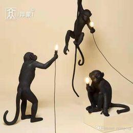 seil vintage lampe Rabatt Nordic Creative Monkey Lamp Pendelleuchte Leuchte Industriebeleuchtung Hanfseil Vintage Seil Kronleuchter Lampadario Moderno Fixtures