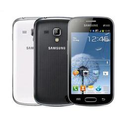 дюймовый android-телефон 3g android 4.2 Скидка Samsung GALAXY Trend Duos II S7572 S7562I Сотовые телефоны 3G WCDMA ПЗУ 4,0-дюймовый двухъядерный 3,0-мегапиксельный мобильный телефон Android с восстановленной коробкой Retai