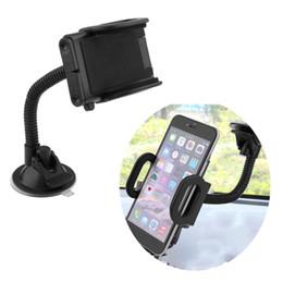 soporte largo móvil Rebajas Soporte de soporte Asiento de teléfono móvil Vehículo flexible General GPS tomtom Navigator Automóvil Soporte universal Con Manguera larga Coche caliente