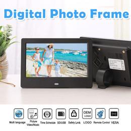 2019 toptan OEM ODM özelleştirilmiş logo yeni 7 inç Lcd Tft Dijital Fotoğraf Resim Çerçevesi Video Mp3 Mp4 Oyuncular üretici elektrik cheap framing video nereden çerçeveleme videosu tedarikçiler