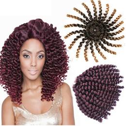 5 Paket 8 inç Toni Carrie Curl Jumpy Değnek Örgü Tığ Örgüler Kadınlar için Afro Sentetik Saç Uzantıları nereden