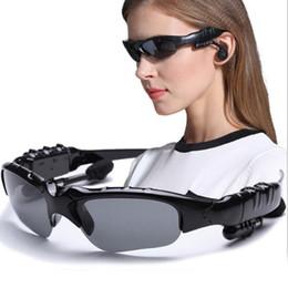 Occhiali da sole a mani libere online-Smart occhiali Bluetooth senza fili Bluetooth V5.0 occhiali da sole occhiali da sole smart occhiali stereo sport cuffie vivavoce lettore musicale auricolare