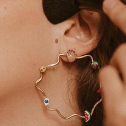 Orecchini di anguria online-gioielli di design orecchini a cerchio d'onda bella chrismas alberi anguria palma pendenti orecchini per le donne moda calda