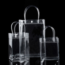 spring totes Promo Codes - 1 Pc Clear Tote Bag Spring 2019 New Pvc Transparent Shopping Casual Chic Sweet Girls Hasp Hot Bag Handbag Storage Gift Bags