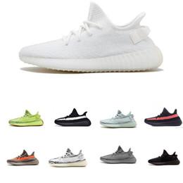 Adidas Supreme Yeezy Boost SPLY 350 V2 2019 yeni kalite bestesa V2 statik erkekler tereyağı susam gri siyah kadın tasarımcı kadın ayakkabı nereden