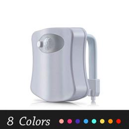 Deutschland Toilette Nachtlicht Smart LED Sensor Bewegung aktiviert Toilette Badezimmer Waschraum Nachtlampe Toilettenschüssel Lichtsensor Sitz Nachtlicht Heiß Versorgung