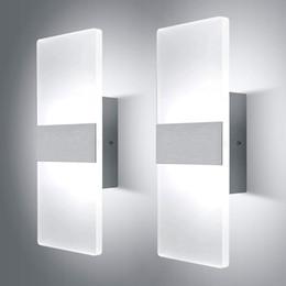 Fino lampada da parete LED muro verso il basso di 3W 6W 12W moderna riparo della parete di acrilico per Corridoio Camera da letto Corridoio, bianco freddo da interruttori lucidi cromati fornitori