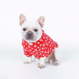 dog hoodie large Coupons - Brand Dog Hoodies Letter Printed Dog Hoodies Pet Fashion Sweatshirts Autumn Pet Apparel Teddy Puppy New Apparel Warm Pet Clothes