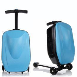 Scooter boy on-line-Hot moda 21 polegadas estudantes scooter maleta menino legal trolley case extrusão 3D de negócios de Viagem bagagem criança Embarque caixa