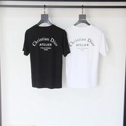 2019 nuove foto delle ragazze calde 19ss parigi Europa Atelier Stampa Lettera T-shirt Moda Uomo T-Shirt Casual Uomo donna Abbigliamento Cotone Tee top d8