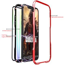 Funda con imán de 360 grados para iphone X XS Max XR Funda con tapa magnética de vidrio templado para iPhone desde fabricantes
