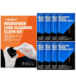 2019 toallitas húmedas lente de la cámara paño 8PCS! Lente óptica VSGO Magicfiber paño de limpieza para la cámara, microscopio, lentes del proyector, gafas