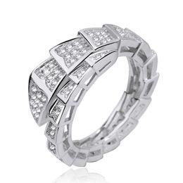 2019 nuova tecnologia per i telefoni Regalo dei monili zircone serpente dell'anello di diamante Serpenti Anello di lusso delle donne di marca di marea di moda