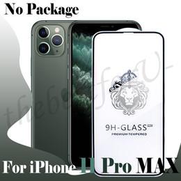 protectores de pantalla mate iphone 5s Rebajas Protector de pantalla completa para el iPhone 11 Pro XS MAX 7 8 6S Plus 5D a sangre vidrio templado sin paquete