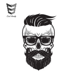 2019 calcomanías para camiones Venta al por mayor 20 unids / lote Skull Helmet Vinyl Stickers Cool Auto Moto Bike Car Van Truck Tuning Decal 3D Sticker estilo 13cm x 8.3cm calcomanías para camiones baratos