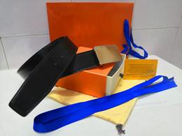 New Ledergürtel für Männer und Frauen hochwertige Modedesigner für Männer Taille Design Flugzeug Gold, Silber, Schwarz glatte Schnalle frei liefern von Fabrikanten