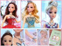 Handgemachte hochzeitspuppen online-neu 2019 Hochzeit Barbie Super große handgemachte Dekoration Dance Art School Girl Puppe Geschenk-Spielzeug-Set Batch A33