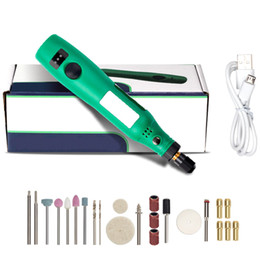 cabeças de caneta a laser Desconto Furadeira sem fio Power Tools Elétrica Mini broca Grinding conjunto de acessórios 3.6V sem fio Mini Gravura Pen para ferramentas Dremel