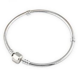 oval pavimentar grânulos atacado Desconto Authenic 925 prata esterlina 17 cm-23 cm logotipo com coroa de pandora fecho estilo pulseira diy jóias componente