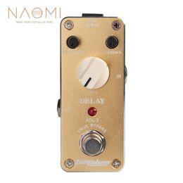 e-gitarre verzögerung effekte pedal Rabatt NAOMI AROMA Effektpedal ADL-3 Mini Delay E-Gitarren-Effektpedal mit Befestigungsband Aluminiumlegierung Gehäuse True Bypass Neu