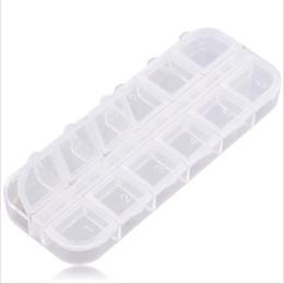 Контейнеры для пластмассовых изделий онлайн-Пластиковый Контейнер Для Хранения Box 12 Отсек Пустой Пластиковый Контейнер Для Хранения Box для Ногтей Продукты Женщины Ювелирные Изделия