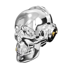 2020 altifalantes bluetooth exclusivos 2018 popular new Nano AeroSkull Crânio Cabeça Speaker dazzle LED chama Portátil Bluetooth Stereo Natal Presente Original Inovador caixa de som desconto altifalantes bluetooth exclusivos