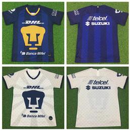 Camisas de futebol americano amarelo on-line-2019 20 Mexico American Club Men Futebol DOMINGUEZ Início amarelas afastado camiseta preto do futebol mexicano Menez P.AGUILAR Camisetas de fútbol