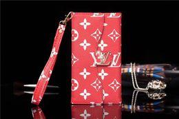 portafoglio magnetico pieghevole Sconti Folio Fold e Holder Shell con chiusura magnetica Chiusura Monogram Portafoglio con cinturino per Designer Iphone Custodia per Iphone 7 8 Plus XS XR X Custodia