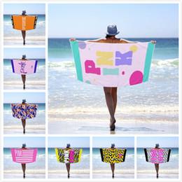 2019 toalhas de banho de microfibra 17 estilo Pink Beach toalha rosa do amor Projeto microfibra Blanket mulheres de natação Toalhas Impresso Adulto Bath Pattern Folha Toalha Esporte Bath toalhas de banho de microfibra barato