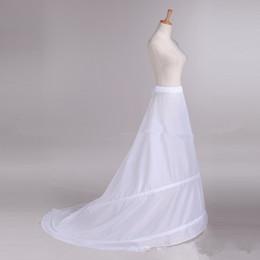 vestidos de casamento emagrecedor Desconto Barato A Linha Slim Anáguas Nupcial Do Casamento Vestidos Branco Underskirt Para Acessórios De Noiva Crinolina Para Acessórios De Noiva Dois Hoops