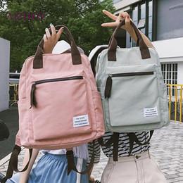 2019 zaino coreano di svago di modo Zaino di tela di stile coreano per le donne Semplici borse di scuola per il tempo libero zaino da viaggio della gioventù di moda per le donne 2019 zaino coreano di svago di modo economici