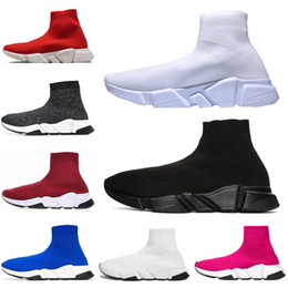 Balenciaga Zapato de lujo al por mayor SOCK Speed ​​Trainer ejecutando shOes para hombres y mujeres sPOrts shOes SpEEd stREtch-kNit Mid sneaker free desde fabricantes