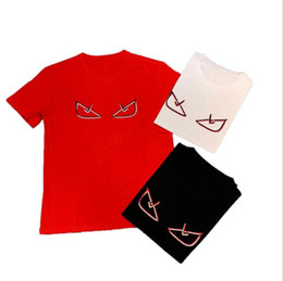 2019 pareja divertida tees Diseñador para hombre de la camiseta para el verano de manga corta divertido Emoji Impreso Tees 3 colores estilo de la calle Pareja camiseta rebajas pareja divertida tees
