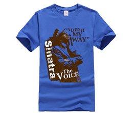 Deutschland Das T-Shirt der Männer Frank Sinatra meine Weise - die Stimme Versorgung