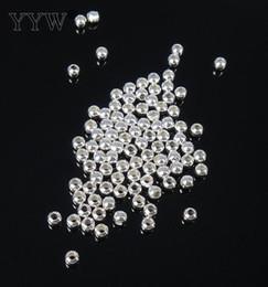 Vendido por bolsa redonda manera de los granos de plata plateado separador de bolas 2/4/5/6/7/8/9/10 mm elegir encantos de la joyería DIY desde fabricantes
