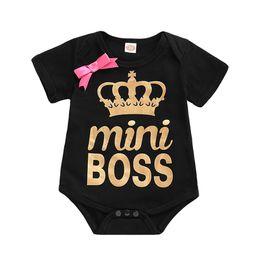 2019 bobo kleidung Kinder Kleidung Neugeborenen Bobo Baumwolle Baby Mädchen Brief Bodysuit Strampler Schwester Passende Kleidung Tops T-Shirt Sommer T rabatt bobo kleidung