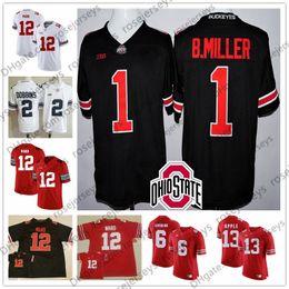 Manzana 13 online-Ohio State Buckeyes # 1 Braxton Miller 5 12 Denzel Ward 4 Curtis Samuel 6 Sam Hubbard 13 Eli Apple Blanco Rojo Negro Jersey